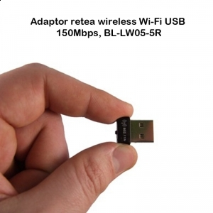 Adaptor retea wireless Wi-Fi USB 150Mbps, BL-LW05-5R LB-LINK BL-LW05-5R, adaptor, wireless, retea, desktop